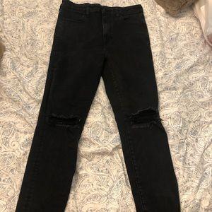 Black distressed American eagle jeans